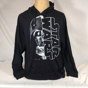 Star Wars Darth Vader Pullover Hoodie T Shirt XXL